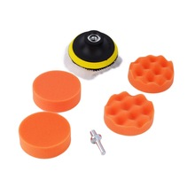 1set Car Polisher 3 inch Polishing Buffer Sponge Pad Set + Drill Adapter Wholeslae Brand New(China)
