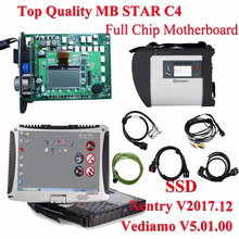 High Quality MB STAR SD Connect C4 with Wins 7 MB STAR C4 Software SSD XENTRY&VEDIAMO Plus Military Toughbook Cf19 For Star C4(China)