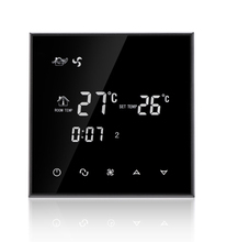 Water system wind system Programmable Touch Screen Thermostat with fan coil unit(China)