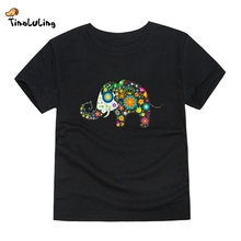TINOLULING 2017 boys girls elephant t shirt kids top t-shirt children summer tees for 2-14 years