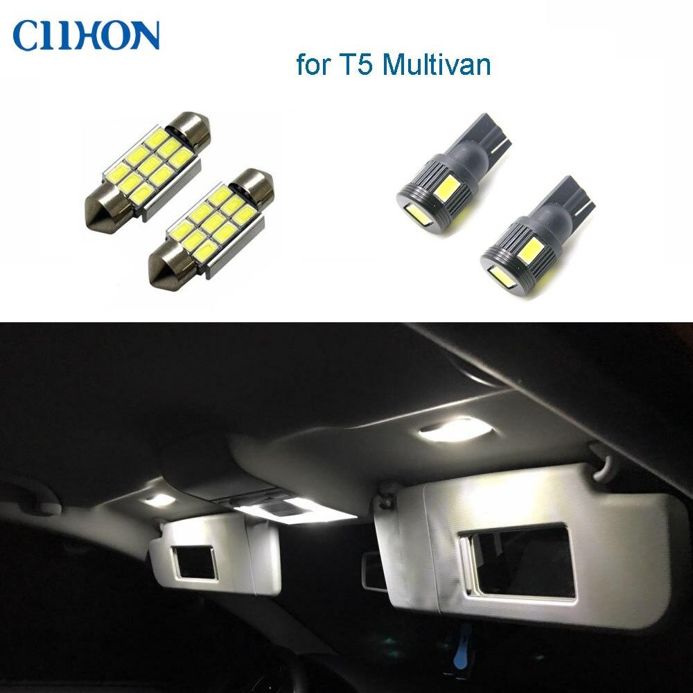 14Pcs T5 Car LED Interior Reading VW for Replacement White Kit Bulb Dome Festoon