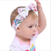 JRFSD Cotton Elasticity Comfortable Headbands With Flower Newborn Headwear Handmade Hair Accessories Quality KT033
