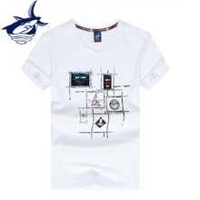 Tace Shark Yachting Club Mens Tee Shirt Summer Jersey Brand Clothing Homme Outwear Luxury Group T shirts(China)
