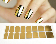 Gold Nail Art Patch Beauty Smooth Sticker Foils Decoration Decal(China)