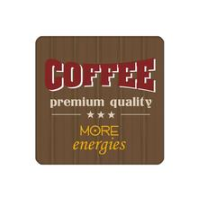 4pcs/set Brown Coaster with Coffee Premuim custom Home Table Mat Bakery Creative Decor Drink Placemat cork Square cup mat