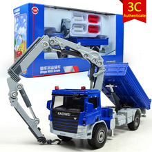 KAIDIWEI  1 : 50 Alloy Slide Toy Models Construction Vehicles  Crane Truck Model  Toys Collectors Free shipping