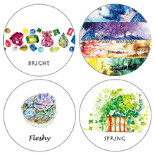 Spring Jewelry Flower Succulent Plants Washi Paper Masking Tape Party Decorative Stickers Diary Deco Scrapbooking Sticker