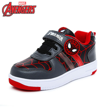 Disney Spider-Man Cartoon Boys Sport Breathable Sneakers Kids Winter/Autumn Casual Flat Shoes Size 26-33 DS2586(China)