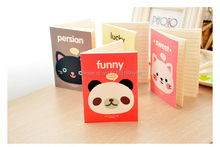 2PCS Cute Cartoon Animal Head Cover A6 Mini Notebook Diary Pocket Notepad Promotional Gift Stationery