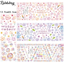 Colorful And Charming Heart Bubble Beauty Design Water Transfer Nail Sticker Decorate Fingernails Nail Painting Glitter(China)