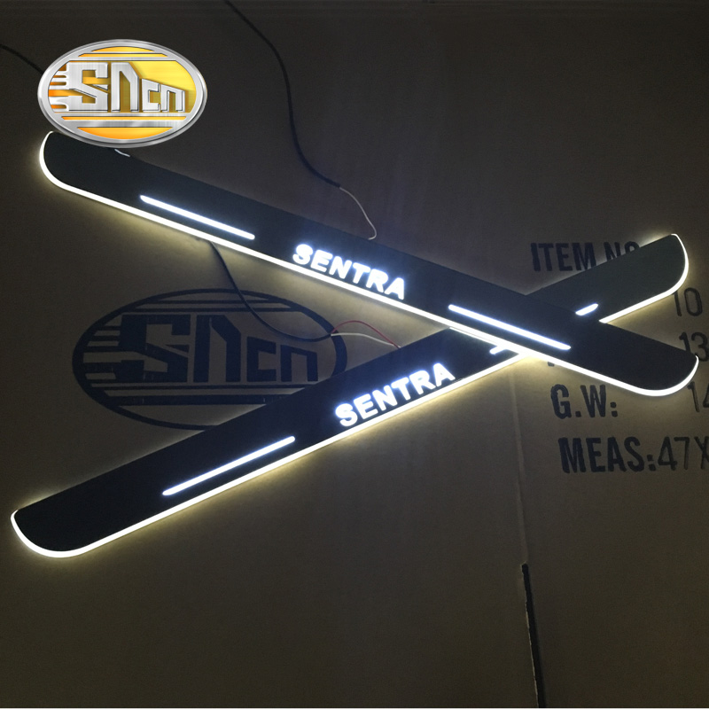 SNCN Led door sill for Nissan Sentra 2012 2013 2014 2015 Door scuff pedal door threshold wearproof courtesy lights<br>