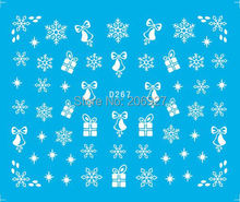 2PCS D267 Snowflake Nail Art Water Decal Nail Water Transfer Sticker