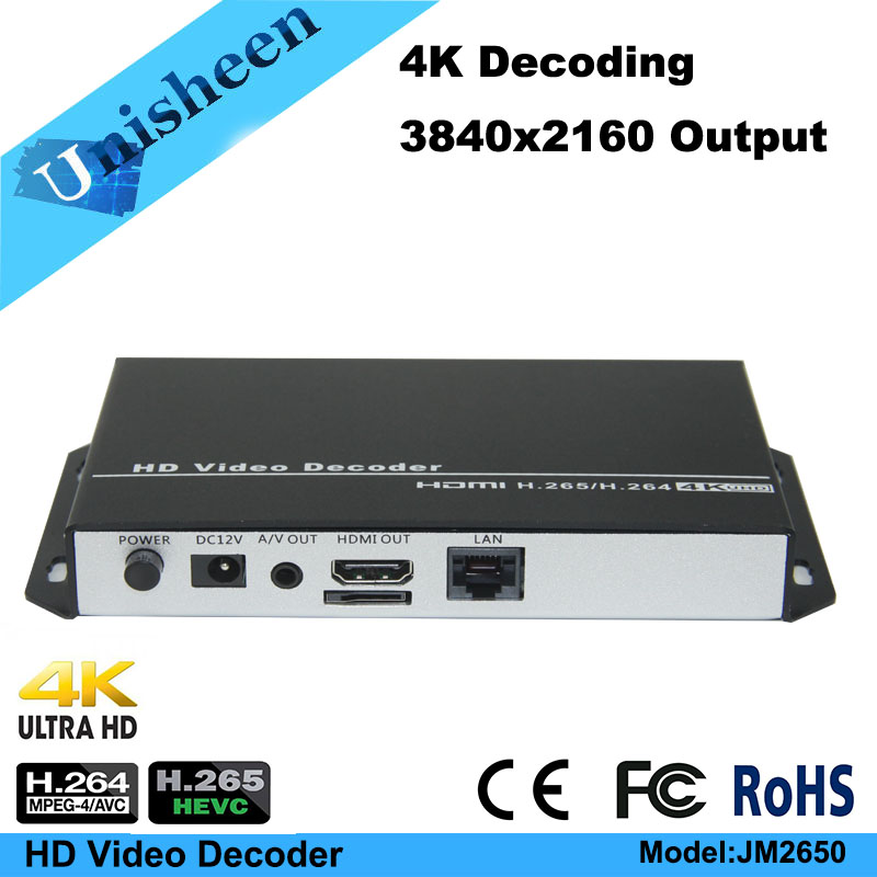 H.265 H.264 low latency Video Decoder transmitter IP encoder decoder rtmp rtsp udp unicast http title=