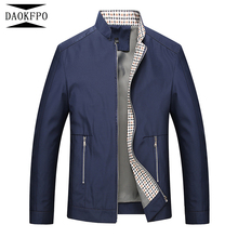 DAOKFPO Men Jacket 2017 Fashion Brand Jacket Men Clothes Spring Autumn Mens Windbreaker Plus Size M-4XL Casual Jackets Men(China)