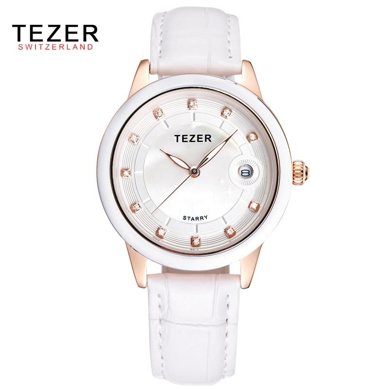 TEZER Women Watch Top Fashion Brand Female Casual Clock Diamond Gilr Dress Waterproof Quartz Wristwatch Relojes Mujer C53<br><br>Aliexpress