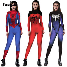 Civil War Spiderman Costume Women's 3D Shade Spandex Fullbody Halloween Cosplay Spider-man Superhero Jumpsuit Costume