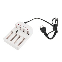 Universal 4 X Slot US Plug Ni MH / Ni Zn / lithium iron 16340 / 18650 / 25500 / 26650 / 2670 rechargeable Battery Charger(China)