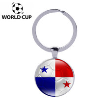 100pcs Panama World Cup Football Key Chains Flag Print Soccer Match Team Key Ring Pendant Charms Car Keychain Gift Souvenir 2018(China)