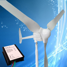 Factory Price Wind Turbine Generator 1KW 48V with 3PCS Blades + 1000W 48V Wind Generator Controller, Best After Sale Service