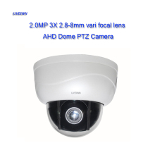 UVEIWN New 2.5 Inch 1080P 3X zoom vari focal 2.8-8MM lens AHD camera MINI 2MP 1080P IR PTZ Dome Camera