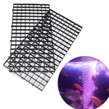 Durable Plastic Fish Grid Divider Tray acuario Egg Crate Aquarium Tank Filter Bottom Filtration Net Accessories Cleaning Tool DA(China)