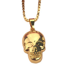 Best Selling Fashion Accessories Club Show Bar Necklace Fashion Necklace For Men And Women Small Skull