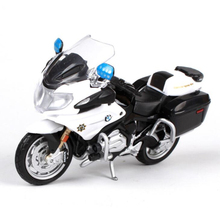 1:18 Scale Maisto Motorcycle Toy Emulation California Police Motor Bike Car Toy Diecast Metal & ABS Model Kids Toys Brinquedos(China)