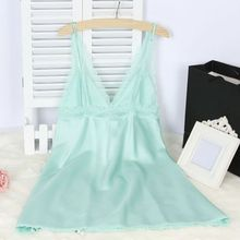 Women Robes Negligee Embroidery Nightwear Solid Color Sexy Luxury Sleepwear Dress Sexy NightGown
