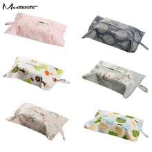 Meetcute Tissue Box Durable Wall Hanging Type Home Paper Paper Napkin Holder Car Storage hanging Bag(China)