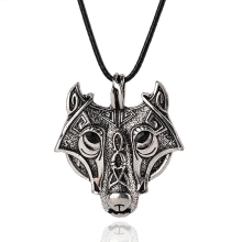 1pcs Original Animal Jewelry Wolf Head Norse Vikings Pendant Necklace Norse Wolf Head Necklace