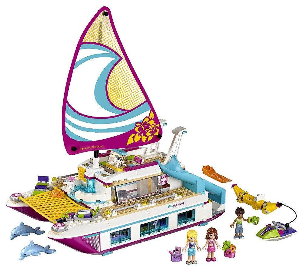 LEPIN Friends Sunshine Catamaran Building Blocks Bricks Classic For Girl Kids Model Toys Marvel Compatible Legoe<br>