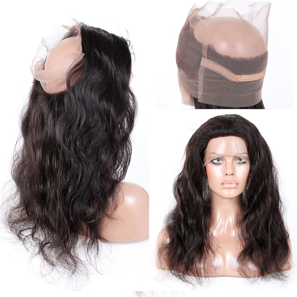 Pre Plucked 360 Lace Frontal Closure 8A Lace Frontals With Baby Hair Natural Hairline Brazilian Body Wave 360 Lace Virgin Hair<br><br>Aliexpress