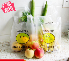 Buy 3 for 1 32*50cm 50pcs/pack  Plastic Bag Shopping Bags Floral Packaging Gift Bag Vest rubish bag