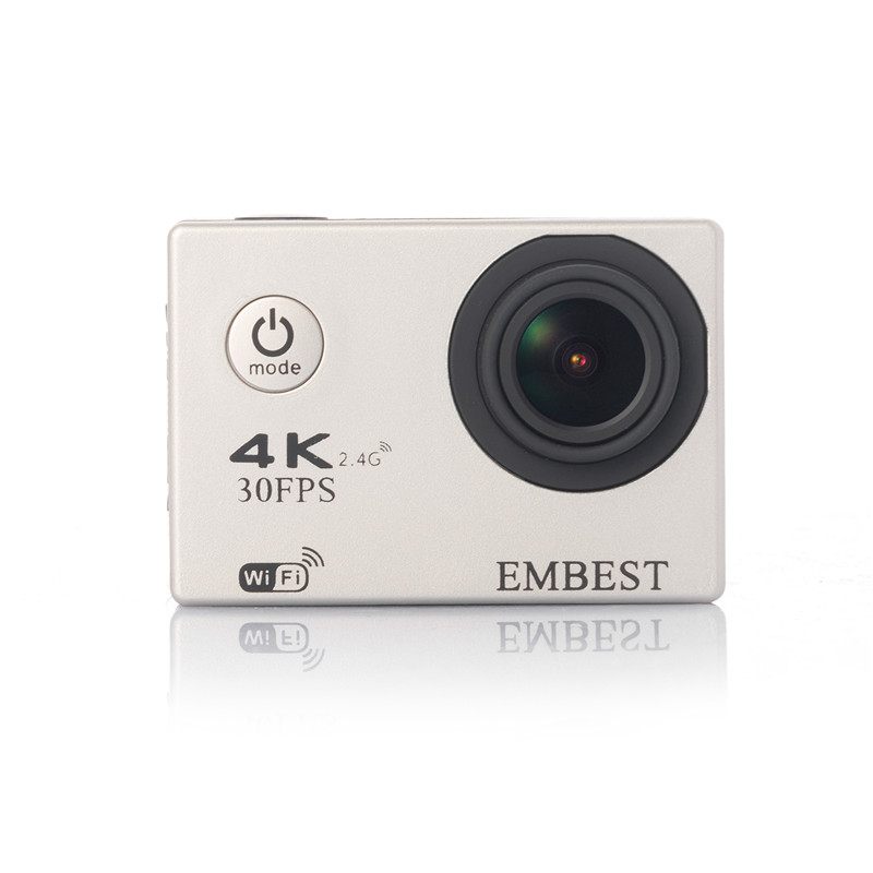 EMBEST 4K WIFI Sports Action Camera With Remote Control Ultra HD Waterproof Underwater 30M Camcorder 16MP 170 Degree Wide Angle 12
