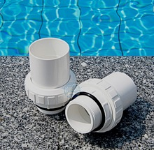 "Swimming pool metric and inch male loose joint 1.5"" and 2 ""pump loose joint sand filter pipe joint(China)"