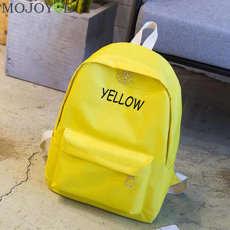 02e0c50a5b80 MOJOYCE Brand Women Backpack Man Letter Boy Solid Color Woman School Bag  College Wind Small Fresh