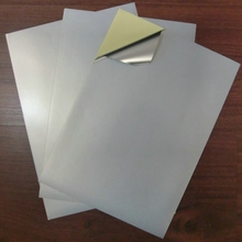 Matt Sliver A4  aluminized paper waterproof Stickers for Laserjet Printer, 80 sheets