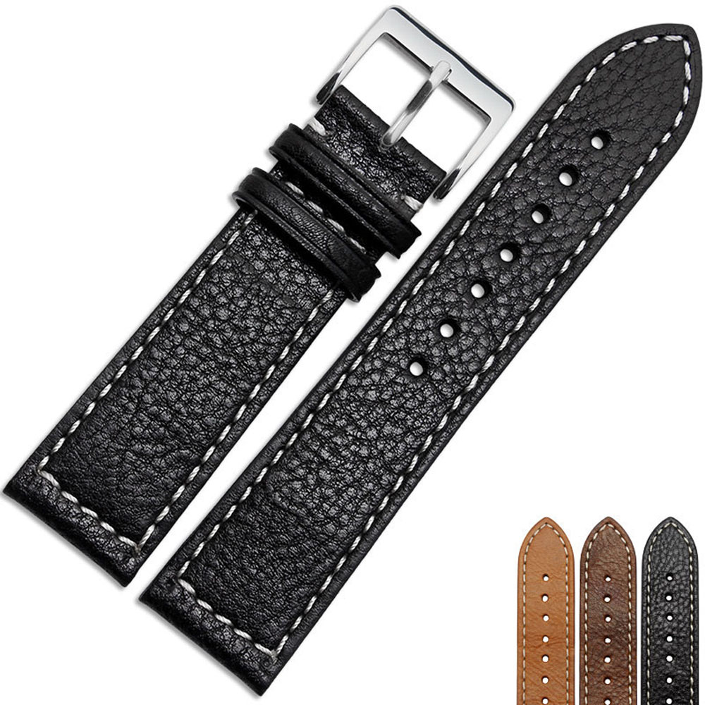 NESUN NP42 Free Shipping  22 mm  Calfskin Leather Watch Band For Mens watches<br>