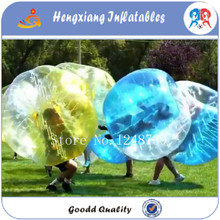 Factory wholesale inflatable pvc 1.2m  human body zorb bumper ball zorb bubble soccer