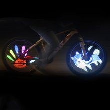 HOT Sale  Design DIY USB Rechargeable Bike Bicycle Wheel Tire Light D020P Waterproof Colorful Wheel Light Night Light