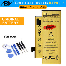 Original ABV 0 Cycle High Capacity Li-ion Gold Replacement Battery for Apple iPhone 5 iphone5 with 8 in 1 Repair tools kits(China)