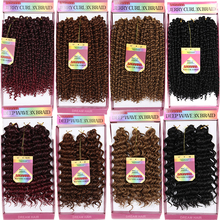 Ombre 1B/BUG 10inch freetress water wave deep twist hair Synthetic Braiding Hair kinky Jerry curly Crochet Braids - curlkalonhair Store store