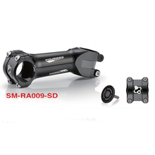 "CNC Aluminium MTB XC Stem 31.8mm 1 1/4"" For Giant OD2 Over Drive 2 17 Degrees with Shim for 28.6"" 1 1/8"" Fouriers Black"