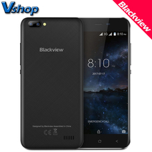 "Original Blackview A7 3G Mobile Phones Android 7.0 1GB+8GB Quad Core Smartphone 720P 5MP+0.3MP Dual Back Cameras 5.0"" Cell Phone"