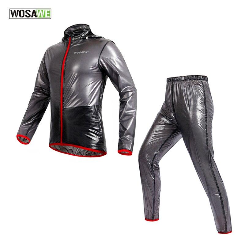 WOSAWE Sports Suits Multifunction Rain Jackets Waterproof Windproof TPU Raincoat MTB Bike Bicycle Jersey Cycling Clothing<br>