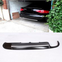 Promotional A4 B8 S4 PU Car Rear Bumper Diffuser With Single Outlet Dual Exhaust  For Audi (Fits A4 B8 STANDARD bumper )
