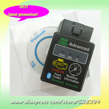 Works on Android Torque Bluetooth OBD2 OBDII CAN BUS bluetooth scan tool OBD II HH OBD MINI ELM327 3pcs DHL EMS Fast Delivery