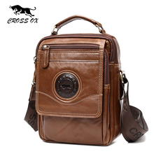 CROSS OX 2017 Summer New Shoulder Bags For Men Vintage Wax Leather Men's Cross Body Bag Tablet iPad Bag Portfolio SL410M(China)