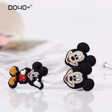 DOYO Cartoon Mickey Mouse 3.5mm earphones Headsets Cute Minnie Earphones for iPhone Cellphone Mp3 For iPad Mini High Quality