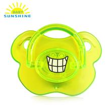 Top Silicone Newborn Funny with Protective Cap Design Baby Nipple Dummy Baby Soother Joke Prank Toddler Baby Pacifier Feeding(China)